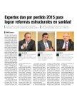 Diario Médico - Expertos dan por perdido 2015 para lograr reformas estructurales en sanidad