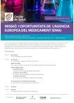 Sessió Cercle de Salut sobre l'Agència Europea del Medicament