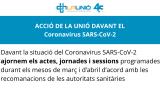 ACCIÓ DE LA UNIÓ DAVANT EL Coronavirus SARS-CoV-2