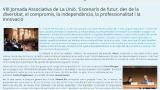 Disponible la newsletter de la VIII Jornada Associativa de La Unió