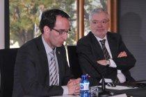 Joan Carles Batanés i Manel Jovells a la IV Jornada Associativa de La Unió