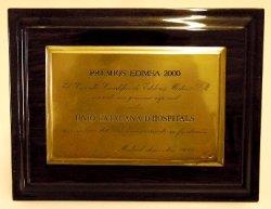Premi Edimsa, atorgat a la Unió l'any 2000