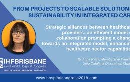 La Unió i els seus associats tindran una participació destacada al World Hospital Congress del 2018