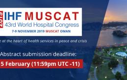 S'amplia fins a l'1 de març el termini per presentar abstracts al 43è World Hospital Congress
