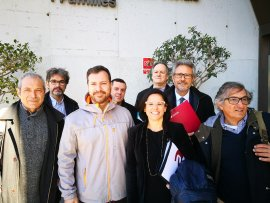 Representants agent socials sector gent gran que s'han reunit amb el conseller Chakir El Homrani