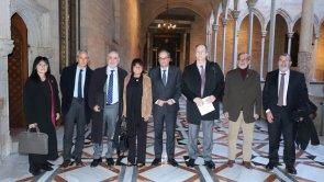 Compartim amb el president del Govern, Joaquim Torra el tret de sortida del 44è Congrés Mundial d'Hospitals Barcelona 2020