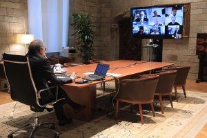 El president de la Generalitat es reuneix amb La Unió per conèixer de prop la realitat de  l'impacte de la Covid-19   2