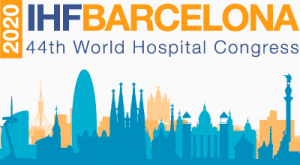 logo Congrés Mundial Hospitals 2020 International Hospital Federation IHF Barcelona