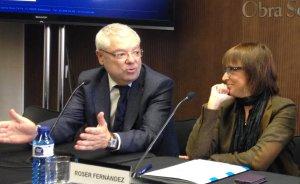 Roser Fernández i Manel Jovells a la IV Jornada del Fòrum d'Associats Col·laboradors