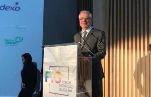 Manel Jovells, director general de la Fundació Althaia i expresident de La Unió, al Fòrum d'Innovació en Salut de Rio de Janeiro.
