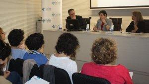 Jornada Treball Social, presentació, Helena Ris, Enric Mangas, Montserrat Pareja,