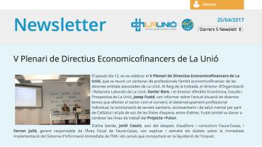 Newsletter V Plenari Economicofinancers