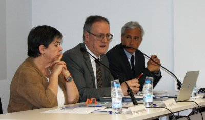 Helena Ris, Enric Mangas i David Elvira.
