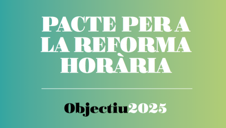 La Unió signa el Pacte per la Reforma Horària promogut per la Generalitat de Catalunya