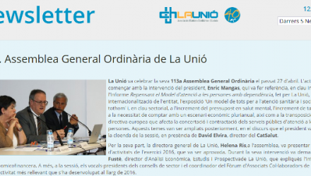 Newsletter 113a Assemblea General Ordinària de La Unió
