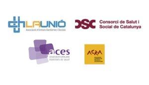 Logos associacions d'entitats sanitàries i socials