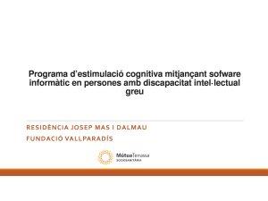DEP Programa d'estimulació cognitiva - Residència Josep Mas i Dalmau