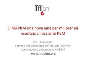 XHUP MAPBM. Model d'avaluació del Patient Blood Management als hospitals - Hospital del Mar