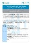 Programa V Jornada de Salut Mental, 24 de maig