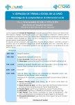 Programa V Jornada en Treball Social, 29 de novembre