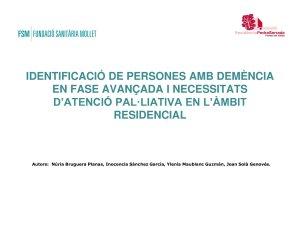 DEP Identificació de persones amb NECPAL. Fundació Sanitària de Mollet