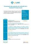 Programa presentació projectes mHealth, 28 de maig