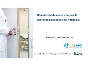 IE Simplificant de manera segura la gestió dels accessos als hospitals - ILOQ