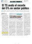 DIario Médico TS avala el recorte del 5% en sector público