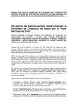 Nota de premsa del coordinador de la Comissió per a l'elaboració del document de bases per al Pacte Nacional de la Salut