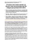 Nota de premsa Pla Integral d'atenció a les persones amb trastorns mentals i addiccions